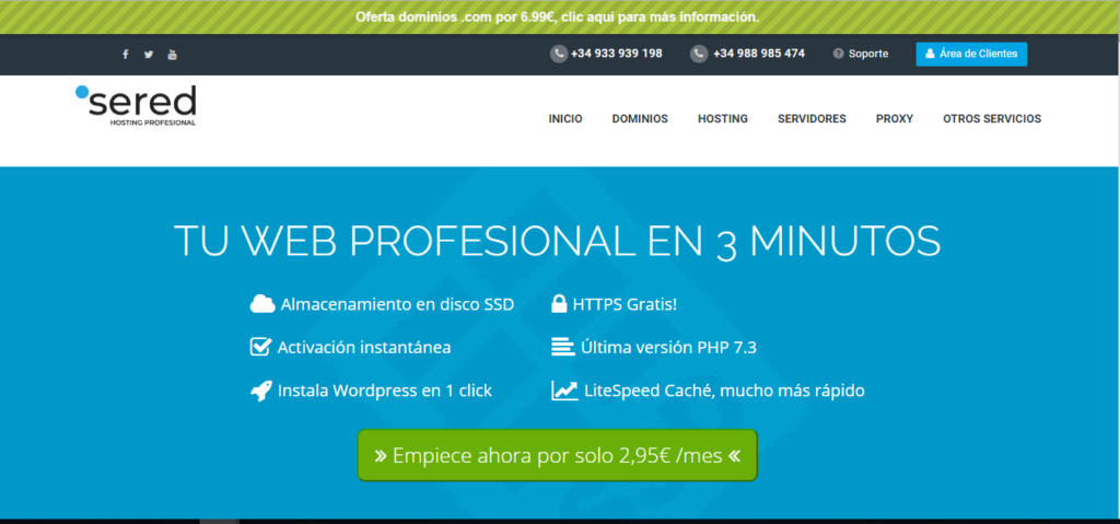 hosting web en español